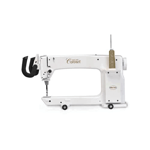 "WIth 16"" to the right of the needle and 8-1/4"" high throat space, the Coronet gives ample room to finish quilts of all sizes."