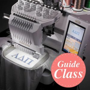 Learn to Use Your Multi-Needle Embroidery Machine Instructional Guide Class  (C-MNEMB)