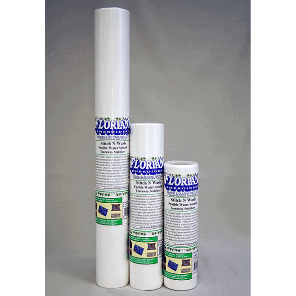 "Floriani Stitch N Wash Fusible Water Soluble Stabilizer - 20"" x 10 yard (FSWF2010)"